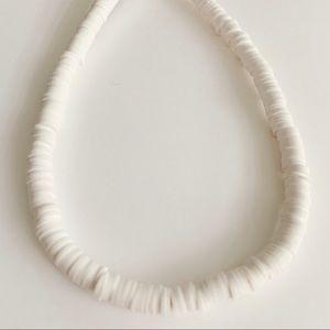 White Surfer Choker Necklace